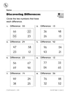 Discovering Differences Worksheet