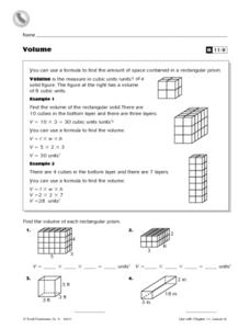Volume Reteaching Worksheet Worksheet