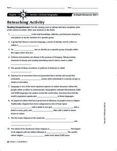 Cultural Geography Worksheet