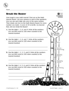 Break the Buzzer Worksheet