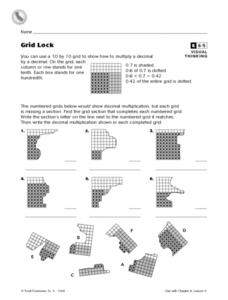 Grid Lock Worksheet