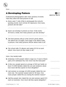 A Developing Pattern Worksheet