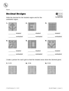 Decimal Designs Worksheet