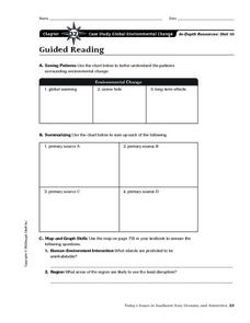Case Study: Global Environmental Changes Worksheet
