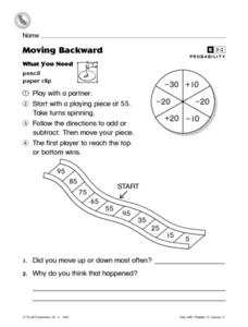 Moving Backward- Probability Enrichment Worksheet Worksheet