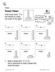 Tower Twins Worksheet