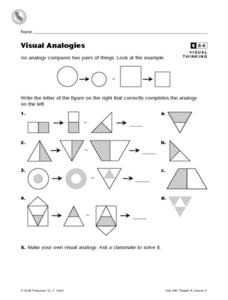 Visual Analogies Worksheet