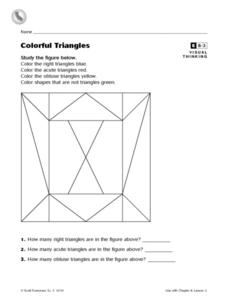 Colorful Triangles Worksheet