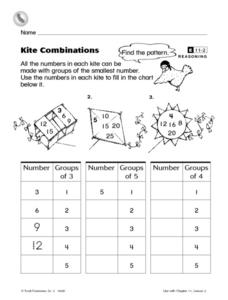 Kite Combinations Worksheet