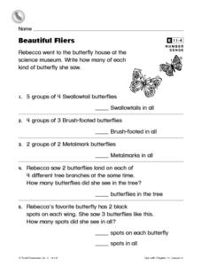 Beautiful Fliers Worksheet