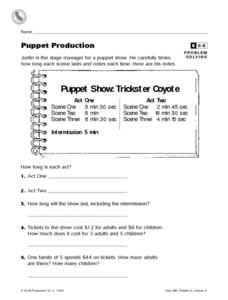 Puppet Production Worksheet