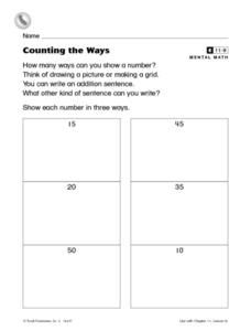 Counting the Ways Worksheet