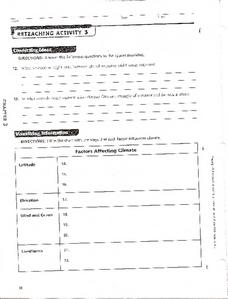 Reteaching Activity 3:  Climate Worksheet