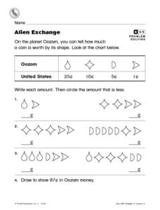 Alien Exchange Worksheet