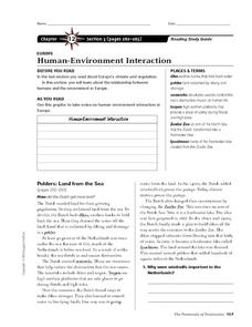 Human-Environment Interaction in Europe Worksheet