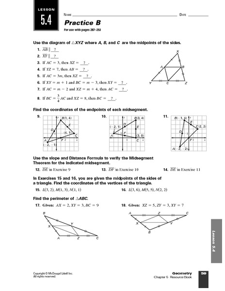 geometry midpoints worksheet for 10th grade lesson planet. Black Bedroom Furniture Sets. Home Design Ideas