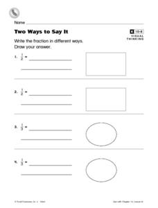Two Ways to Say It Worksheet