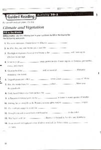 Climate and Vegetation in Africa Worksheet