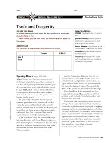 Trade and Prosperity in the Ring of Fire Worksheet