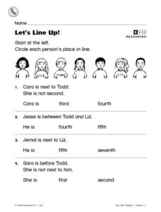 Let's Line Up! Worksheet