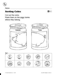 sorting coins worksheet for pre k 3rd grade lesson planet. Black Bedroom Furniture Sets. Home Design Ideas