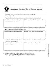 Humans Try to Control Nature Worksheet