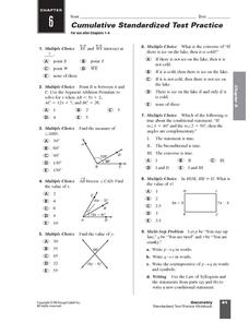 Standardized Geometry Test Practice Worksheet