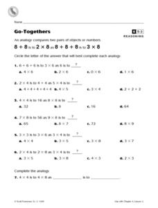 Go-Togethers Worksheet