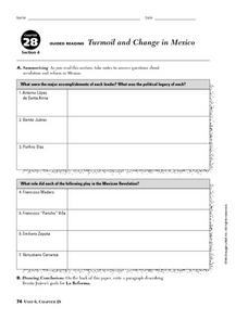 Turmoil and Change in Mexico Worksheet