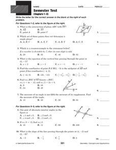 Geometry Concepts and Applications Worksheet