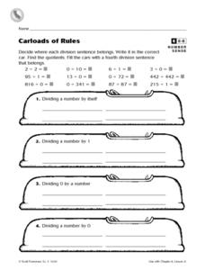 Carloads of Rules Worksheet