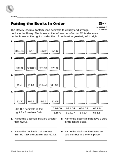 putting the books in order worksheet for 4th 5th grade lesson planet. Black Bedroom Furniture Sets. Home Design Ideas