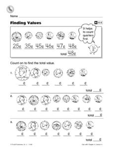 Finding Values Worksheet