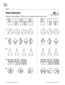 Part Patterns Worksheet