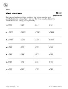 Find the Fake Worksheet