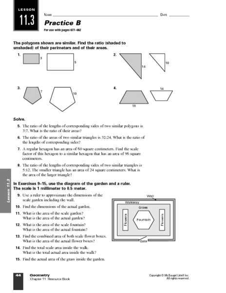 Similar Polygons Worksheets Reviewed By Teachers
