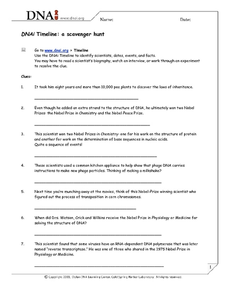 Watson and Crick Lesson Plans & Worksheets Reviewed by Teachers