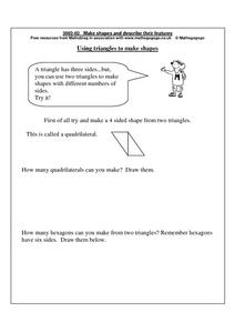Using Triangles To Make Shapes Worksheet