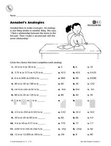 Annabel's Analogies Worksheet