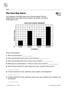 The Four-Way Race! Worksheet