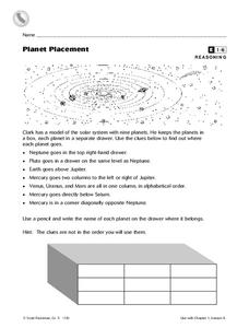 Planet Placement Worksheet