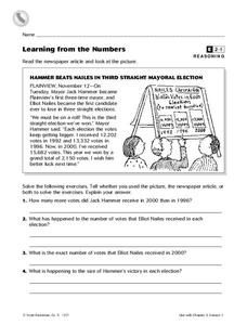 Learning From the Numbers Worksheet