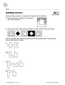 Building Answers Worksheet