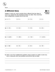 A Different Story Worksheet