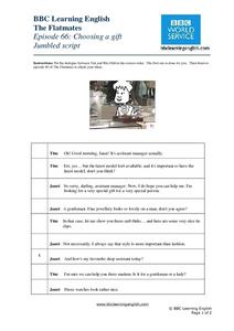 BBC Learning English, Dialogue Worksheet