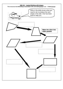 Logical Thinking With Shapes Worksheet