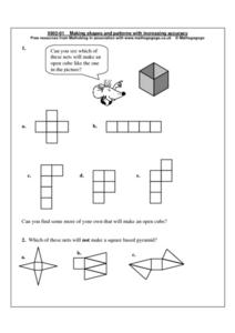 Making Shapes and Patterns With Increasing Accuracy Worksheet