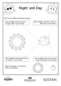 Night and Day Worksheet