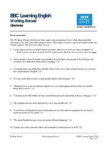 Bbc learning english grammar error correction worksheet for 9th this bbc learning english grammar error correction worksheet also includes ibookread PDF