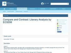 Compare and Contrast: Literary Analysis Lesson Plan